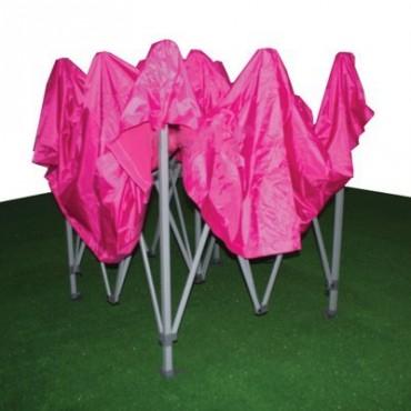 Carpa plegable 3x3 rosa