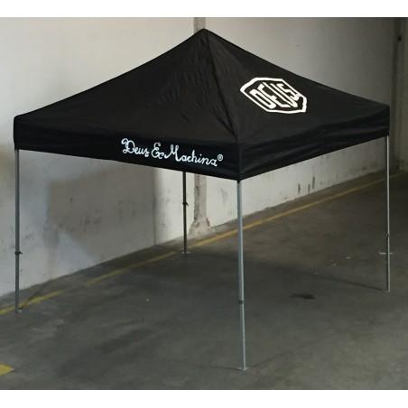 Carpa personalizada negra 3x3 (4 logos)