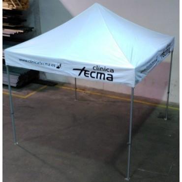 Carpa personalizada de 3x3 m. con logotipo a 1 color