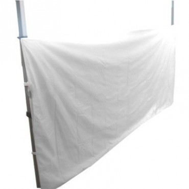 Media cortina para carpa plegable
