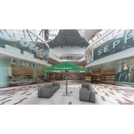 Parasol personalizado para centro comercial
