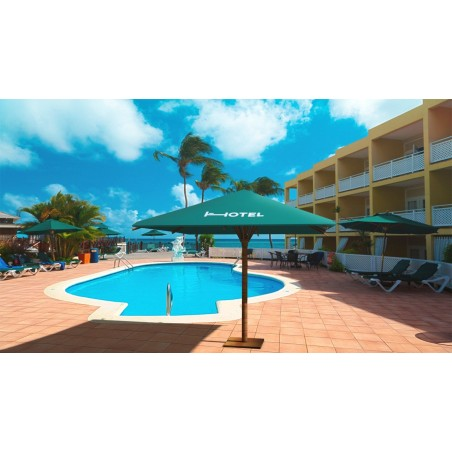 Parasol personalizado para hoteles