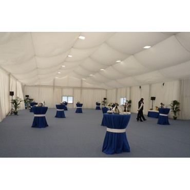 Carpa para eventos decorada