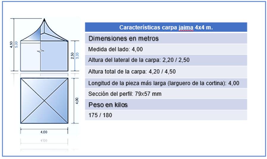 carpa jaima 4x4