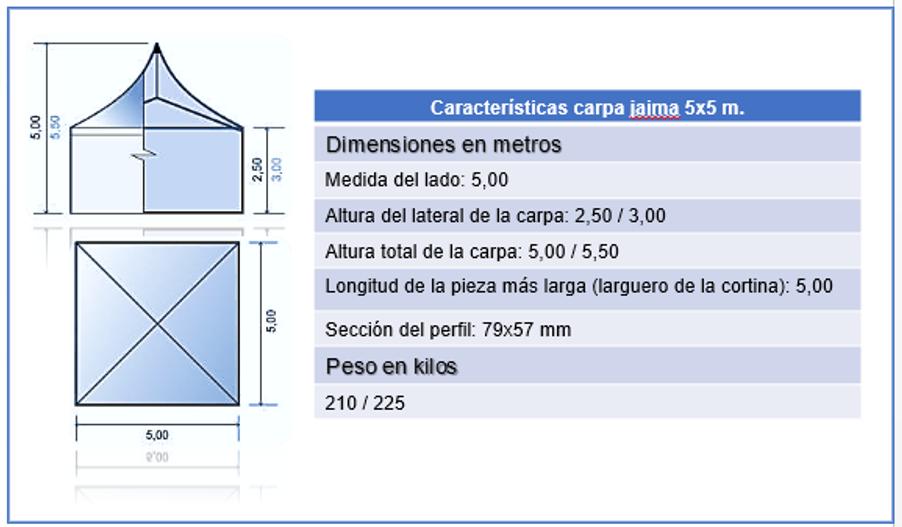 carpa jaima 5x5