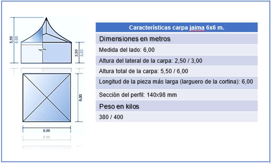 carpa jaima 6x6