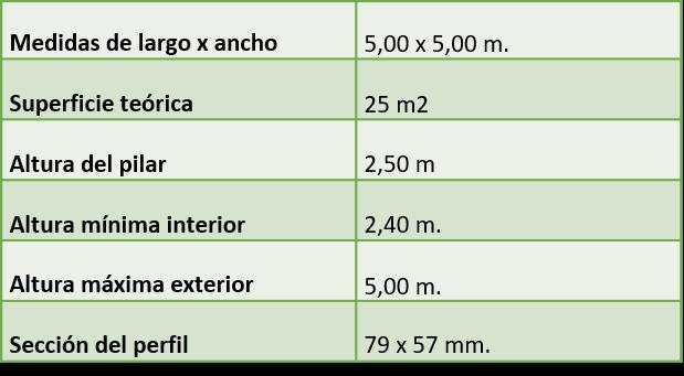 carpa jaima 5x5 blanca
