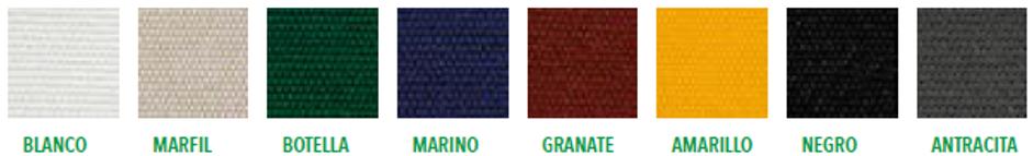 Colores Parasoles personalizados para hostelería